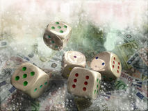 Gambling. For many people the sinking royalty free illustration