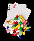 Gambling with Medicine Stock Image