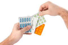 Gambling medicines Royalty Free Stock Photo