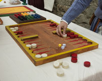 Gambling medieval Royalty Free Stock Photos