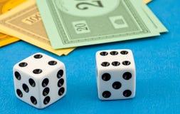 Gambling on the money Stock Photo