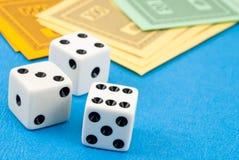 Gambling on the money Stock Photos