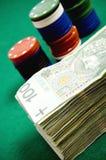 Gambling money Stock Photos