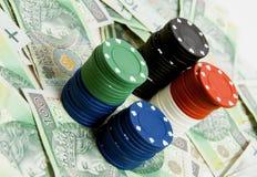 Gambling money Royalty Free Stock Photography