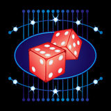 Gambling neon Royalty Free Stock Images