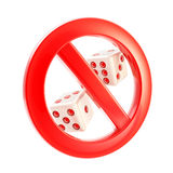 Gambling is not allowed forbidden sign Stock Photos