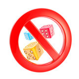 Gambling is not allowed forbidden sign Stock Image