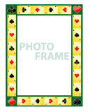 Gambling photo frame Stock Image