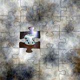 Gambling puzzle concept Royalty Free Stock Photography