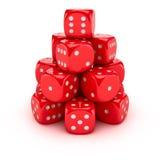 Gambling pyramid Royalty Free Stock Image