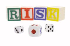 Gambling risk Royalty Free Stock Photos