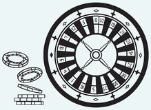 Gambling. Roulette and chips Stock Photography