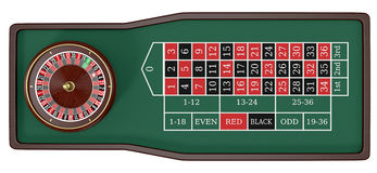 Gambling, roulette game Stock Photos