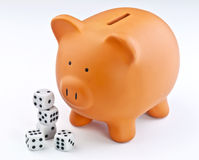 Gambling with savings Stock Image