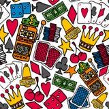 Gambling Seamless pattern / Casino background Royalty Free Stock Photos