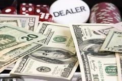 Gambling set Stock Photos