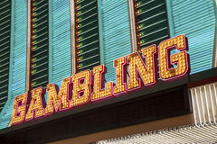 Gambling Sign Royalty Free Stock Photography