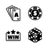 Gambling. Simple Related Vector Icons Royalty Free Stock Image