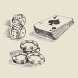 Gambling sketch Royalty Free Stock Images