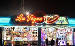 Gambling on the sqare of Turnhout, las vegas Stock Photos