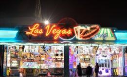 Gambling on the sqare of Turnhout, las vegas. BELGIUM, TURNHOUT, 16 FEBRUARY 2015: Gambling on the sqare of Turnhout, las vegas Stock Photos