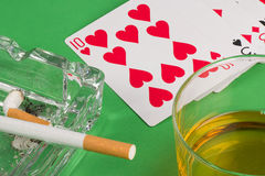 Gambling still life Stock Images