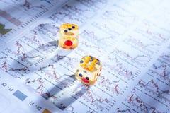 Gambling on stock exchange Royalty Free Stock Photo