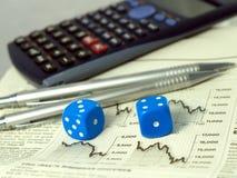 Gambling on the stock exchange concept Stock Photos