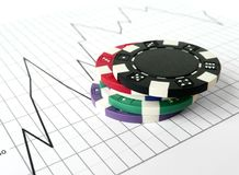 Gambling On The Stock Market Royalty Free Stock Images