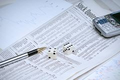 Gambling on stocks Stock Photos