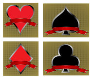 Gambling symbols Royalty Free Stock Photo