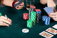 Gambling table closeup Stock Photo