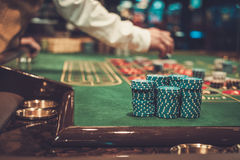 Gambling table in luxury casino.  Stock Images
