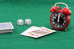 Gambling till twelve Royalty Free Stock Photos