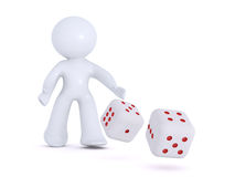 Gambling with two dice Stock Images
