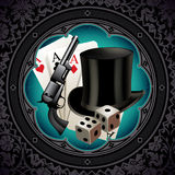 Gambling vintage background. Stock Photography
