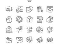 Gambling Well-crafted Pixel Perfect Vector Thin Line Icons 30 2x Grid for Web Graphics and Apps. Simple Minimal Pictogram Royalty Free Stock Image