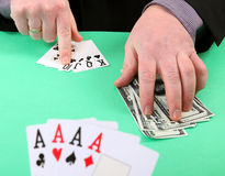 Gambling win and lose Royalty Free Stock Images