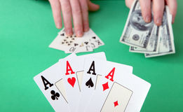 Gambling win and lose Stock Photo