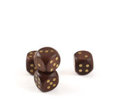 Gambling wooden dice  Stock Image