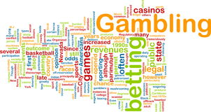 Gambling word cloud royalty free illustration