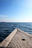 Gambo su una barca di navigazione Fotografia Stock