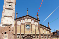 Gambolo, ancient church. Gambolo (Pavia, Lombardy, Italy), historic church Royalty Free Stock Photography
