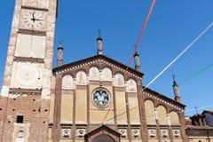 Gambolo, ancient church. Gambolo (Pavia, Lombardy, Italy), historic church royalty free stock photography