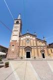 Gambolo, oude kerk stock afbeeldingen