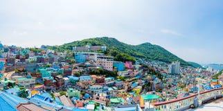 Gamcheon文化村庄,釜山,韩国 库存照片