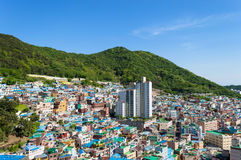 Gamcheon culture village at Busan. View of Gamcheon culture village at Busan, South Korea royalty free stock image