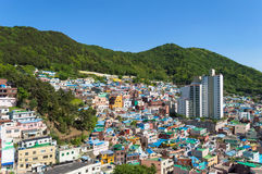 Gamcheon culture village at Busan. View of Gamcheon culture village at Busan, South Korea stock photo