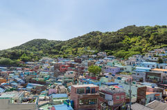 Gamcheon culture village at Busan. View of Gamcheon culture village at Busan, South Korea stock photos