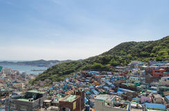 Gamcheon culture village at Busan. View of Gamcheon culture village at Busan, South Korea royalty free stock images